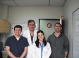 Dr. Diego, Pineros (2nd from left) with cardiac surgery residents
