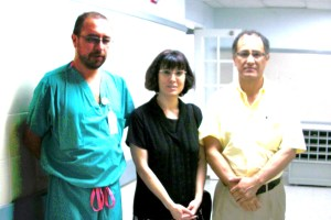 with Dr. Hector Pulido (left) and Dr. Barbosa in Cartagena (2010) after a chance encounter in a hallway,