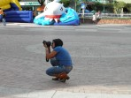 My friend, the photographer, documenting Colombian life