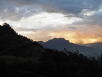 sunset in the mountains above Bogota