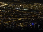 a view of Bogota at night