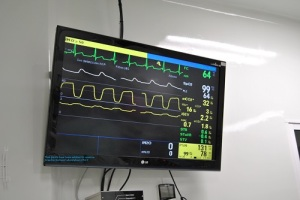 Monitors at HGM are large and easily seen from all areas of the OR