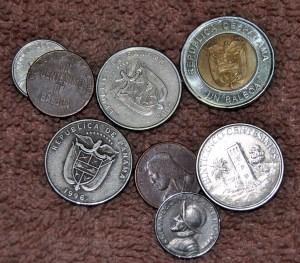 the 'Balboa', the official currency of Panama