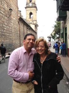 Clara Lozano and her husband, Alvaro Palacios