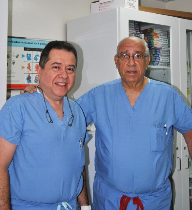 Dr. Geraldo Victoria and Dr. Francisco Sanchez, cardiothoracic surgeons