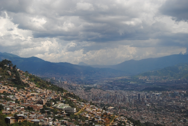the city of Medellin as seen from the tram