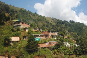 houses hugging the hills of Medellin