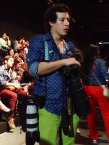Colombian photographer before the show