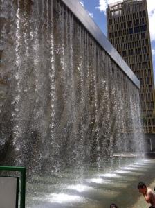 public fountain for cooling off - parque de los pies descalzos