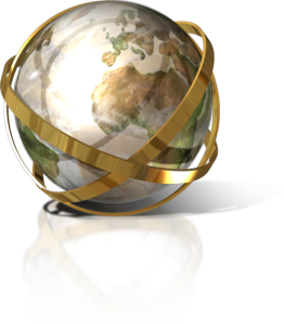 globe ribbon