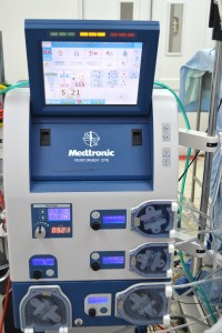 Part of the machinery that makes up Iriis' professional life: the heart-lung machine