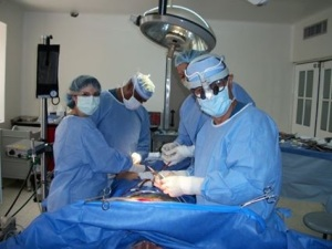 in the operating room with Dr. Barbosa in 2010.