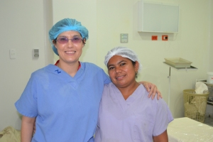 with Liliana, circulating nurse