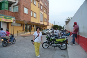 outside Clinica San Rafael