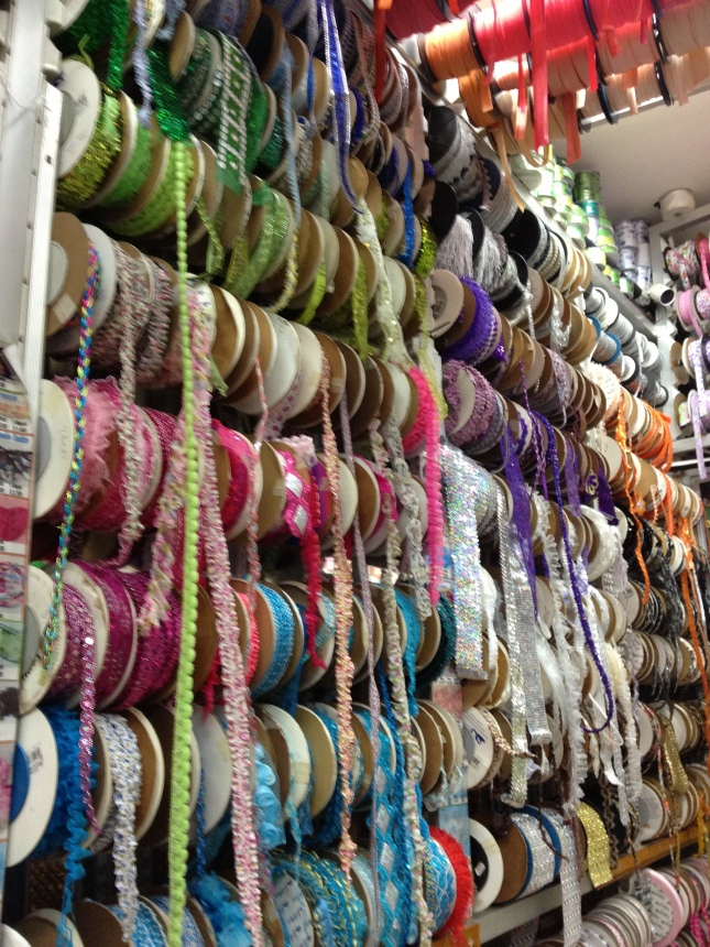 Ribbons, fabric and sewing supplies in just one of several stores in El Centro