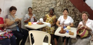 Visiting with Iris' Colombian craft class
