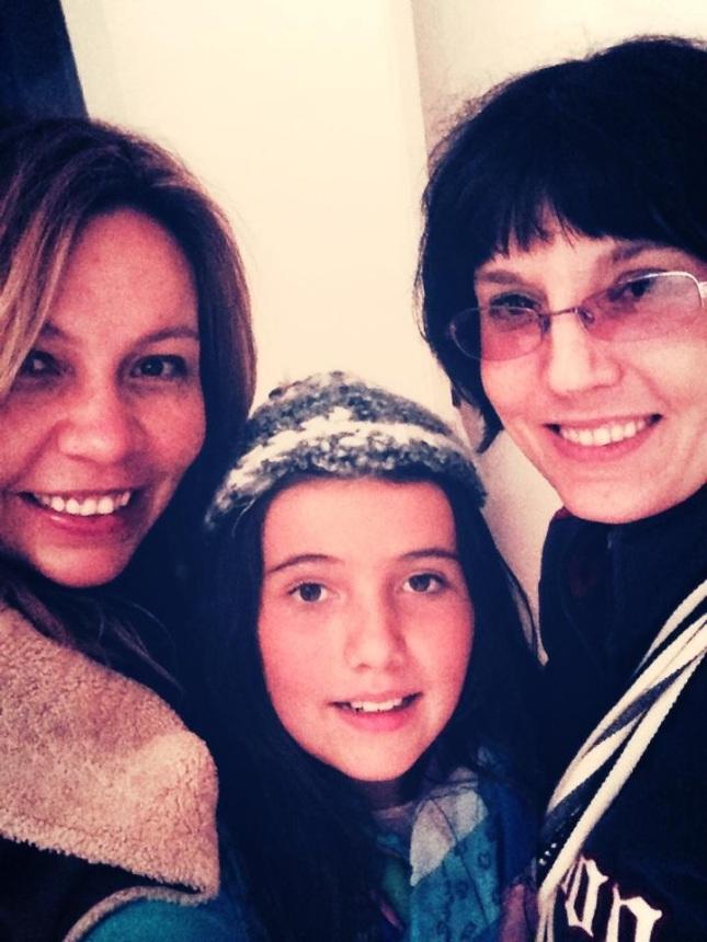 with dear friends, Camila and Flavita.