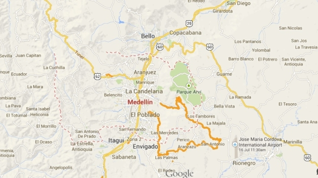 map Medellin