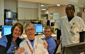 Co-workers in the PACU