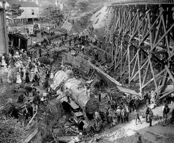 This is a photograph from a famous trainwreck in my home town in Virginia in 1903.  Somehow, it seemed appropriate for today's discussion.